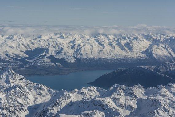 Bergpanorama in Neuseeland