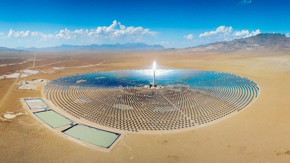 Solaranlage in der Wüste