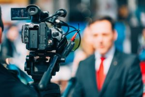 Politiker vor Kamera