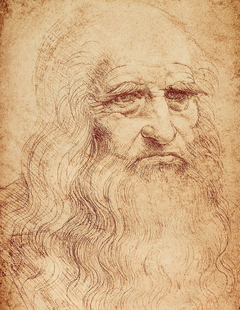 3566030_Self-portrait_of_Leonardo_da_Vinci;_celebrated_drawing_by_the_Master._Biblioteca_Reale,_Turin_by_Vinci,_Leonardo_da_(1452-1519);_Biblioteca_Reale,_Turin,_Piedmont,_Italy;_(add.info.:_Note:_Fac-Simile_preserved_in_the_Biblioteca_della_Stamperia_d\'