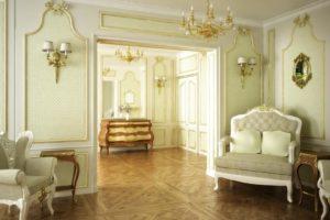 Barock eingerichtete Zimmer