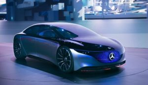 Futuristische Designstudie eine E-Autos